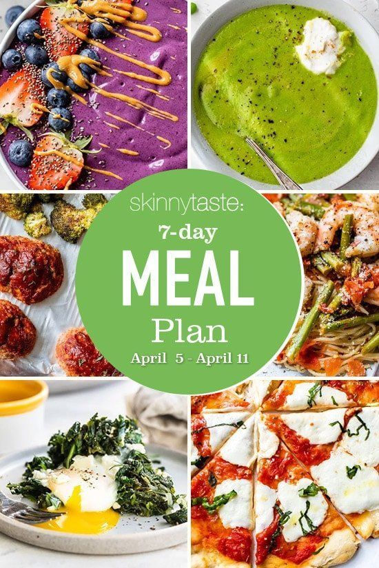 Plan de comidas saludables de 7 días (del 5 al 11 de abril)